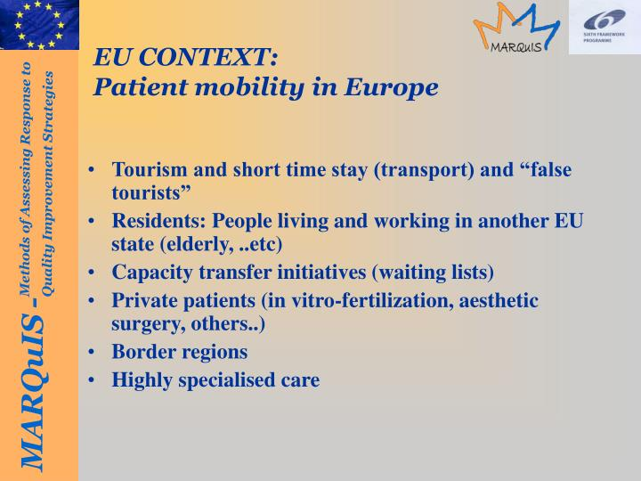 EU CONTEXT: