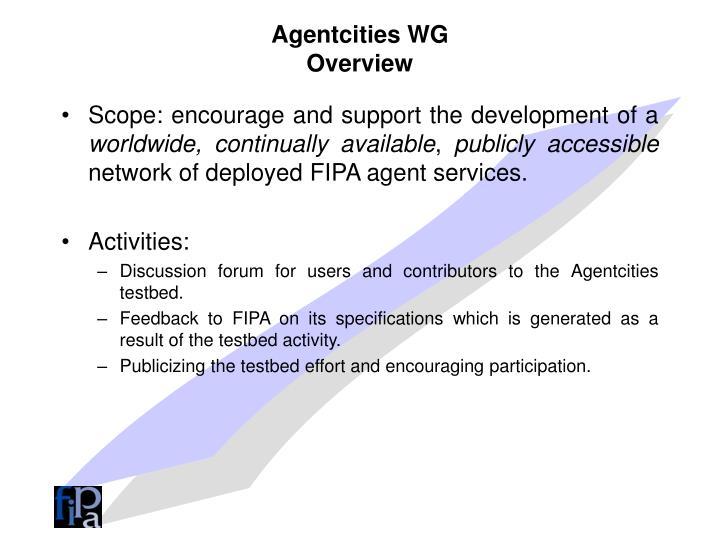 Agentcities WG