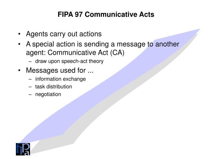 FIPA 97 Communicative Acts