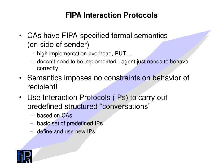 FIPA Interaction Protocols