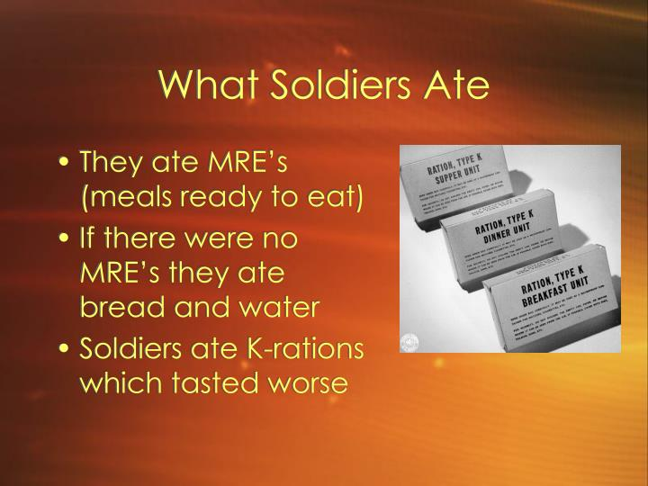 What Soldiers Ate
