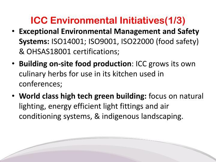 ICC Environmental Initiatives(1/3)