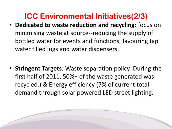 ICC Environmental Initiatives(2/3)