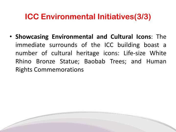 ICC Environmental Initiatives(3/3)