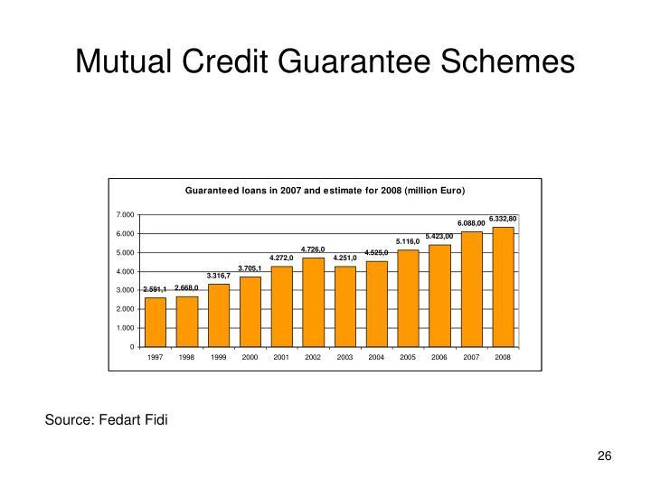 Mutual Credit Guarantee Schemes
