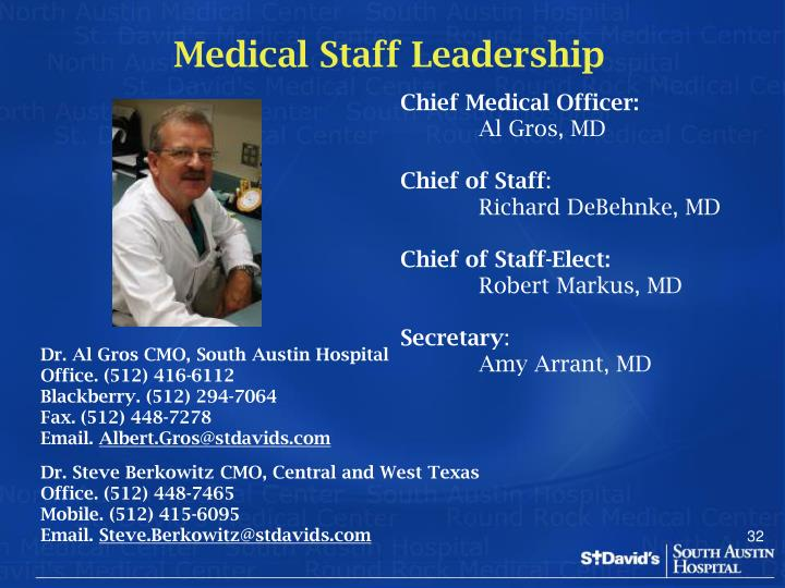 Medical Staff Leadership