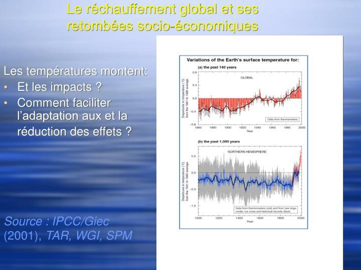 Le r chauffement global et ses retomb es socio conomiques
