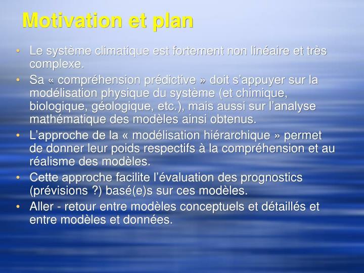 Motivation et plan