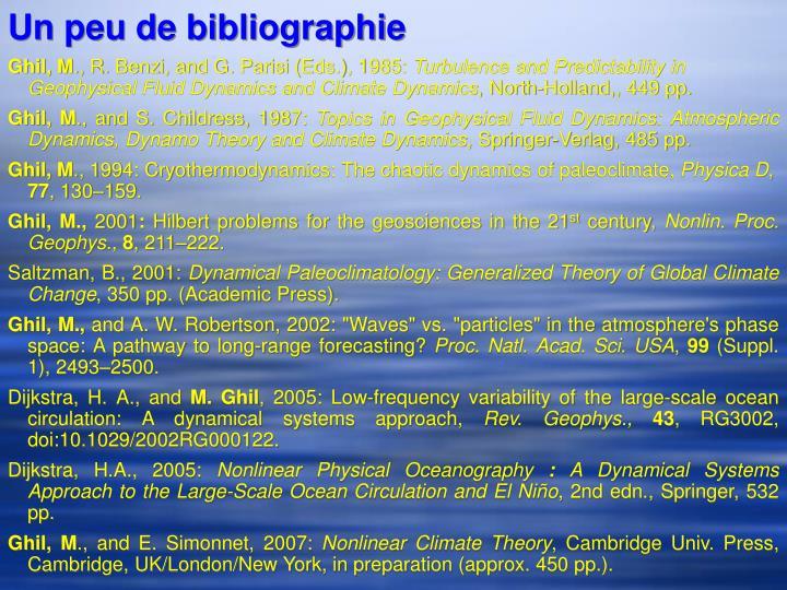 Un peu de bibliographie