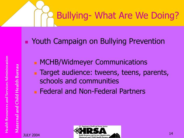 Bullying- What Are We Doing?