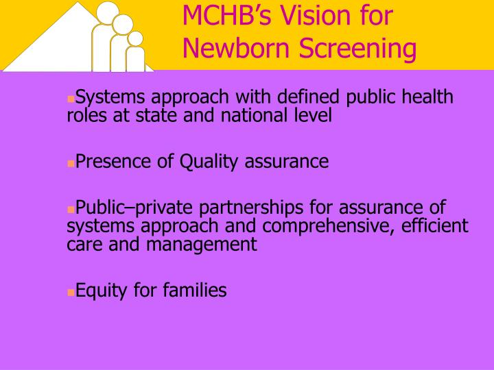 MCHB's Vision for Newborn Screening