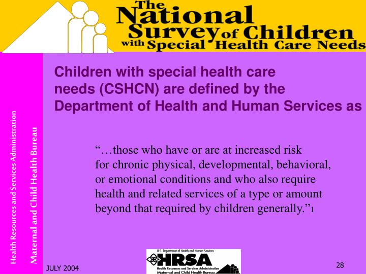 Children with special health care