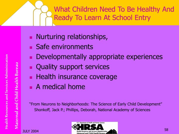 What Children Need To Be Healthy And