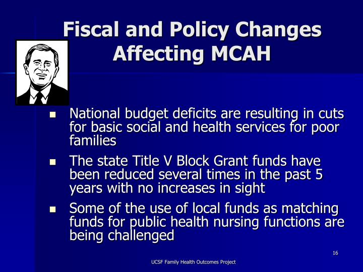 Fiscal and Policy Changes Affecting MCAH
