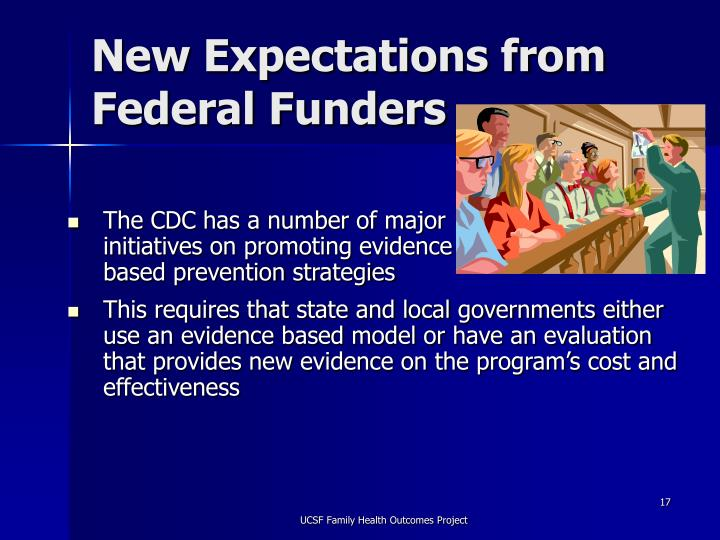 New Expectations from Federal Funders