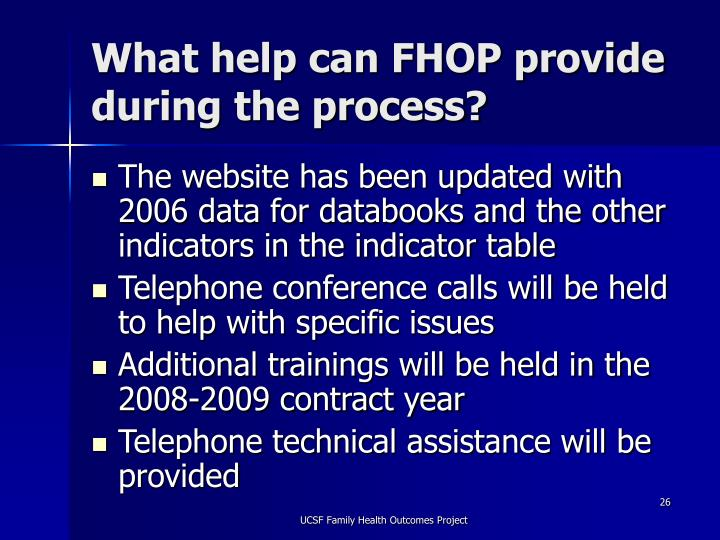 What help can FHOP provide during the process?