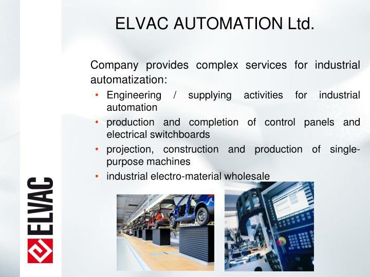 ELVAC AUTOMATION Ltd.