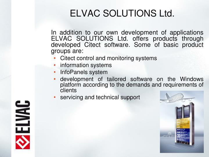 ELVAC SOLUTIONS Ltd.