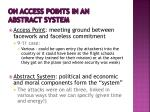 on access points in an abstract system