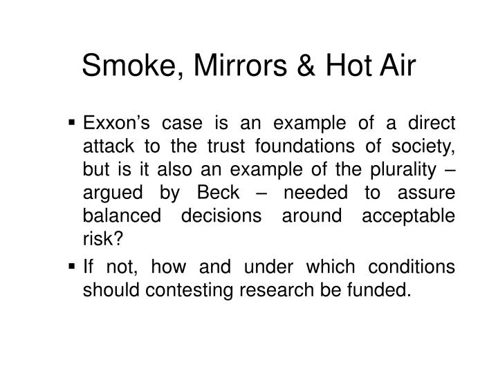 Smoke mirrors hot air2