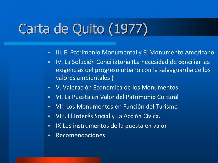 Carta de Quito (1977)