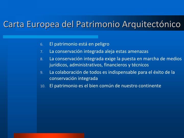 Carta Europea del Patrimonio Arquitectónico