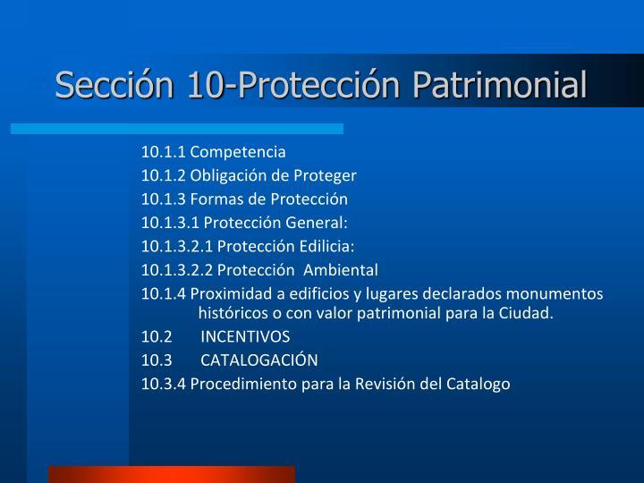 Sección 10-Protección Patrimonial