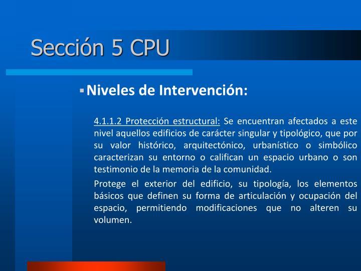 Sección 5 CPU