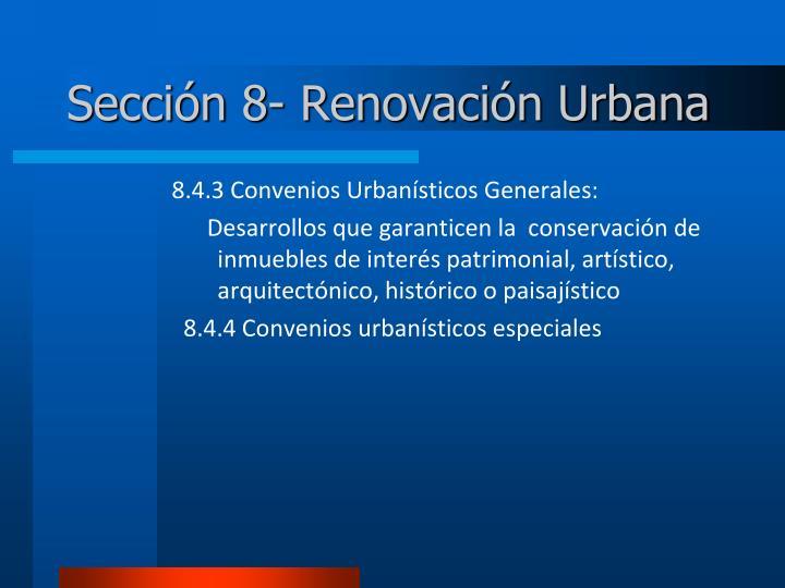 Sección 8- Renovación Urbana