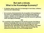 but wait a minute what is the knowledge economy