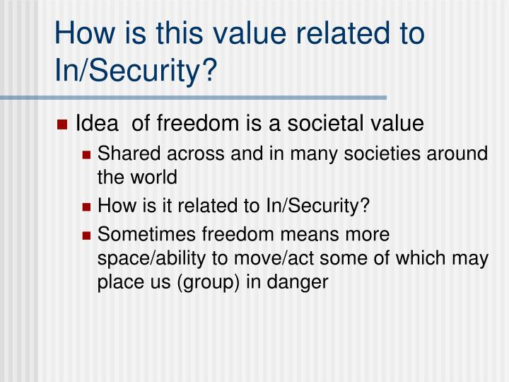 How is this value related to In/Security?