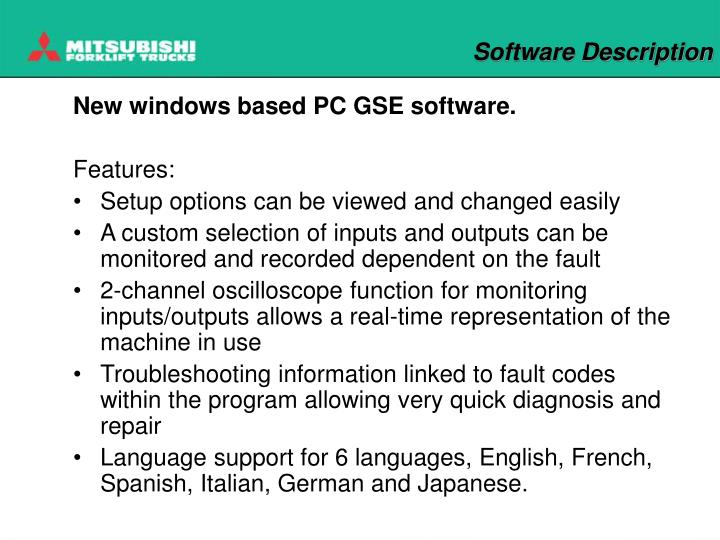 Software description