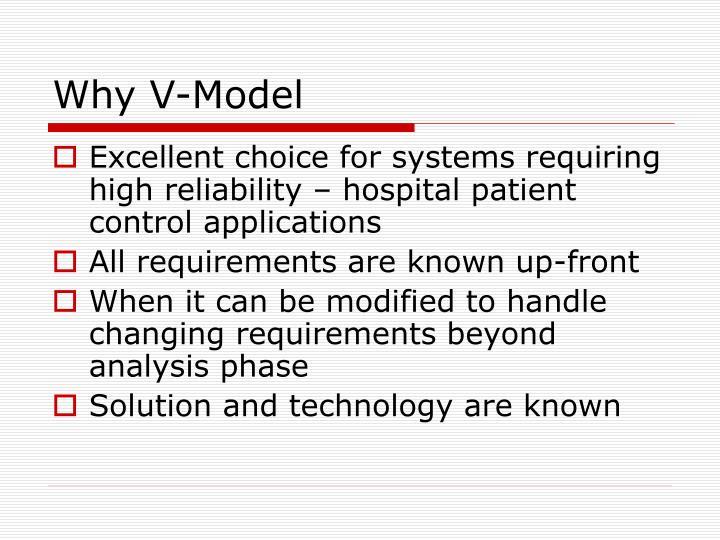 Why V-Model