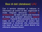 basi di dati database ua2