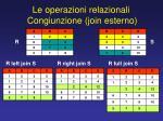 le operazioni relazionali congiunzione join esterno1