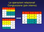 le operazioni relazionali congiunzione join interno1