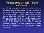 modellazione dei dati livello concettuale