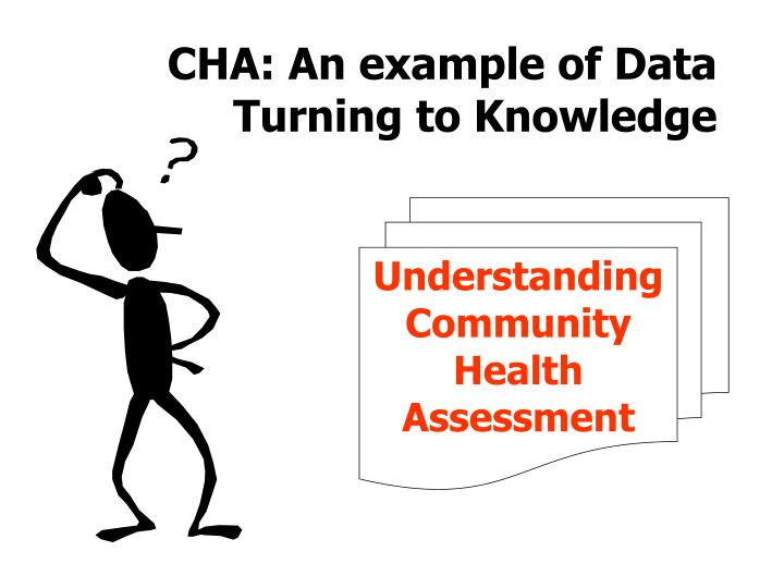 Cha an example of data turning to knowledge