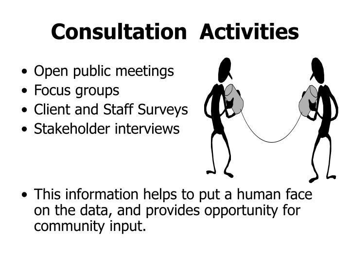 Consultation  Activities