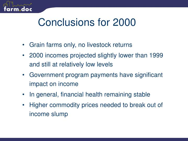 Conclusions for 2000