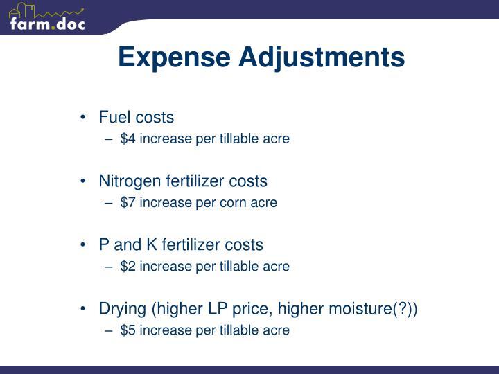Expense Adjustments