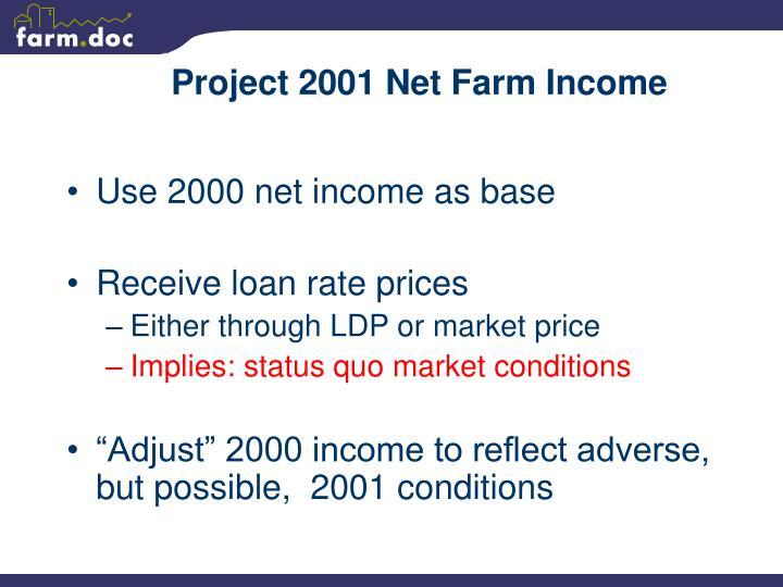 Project 2001 Net Farm Income