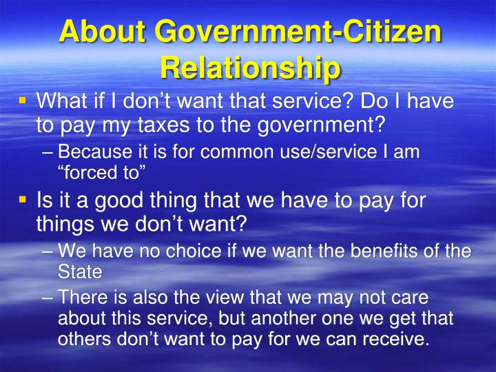 About Government-Citizen Relationship