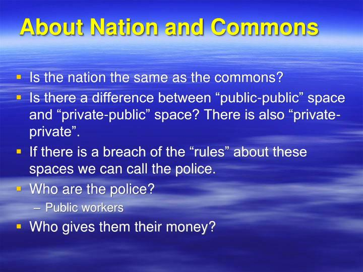 About Nation and Commons