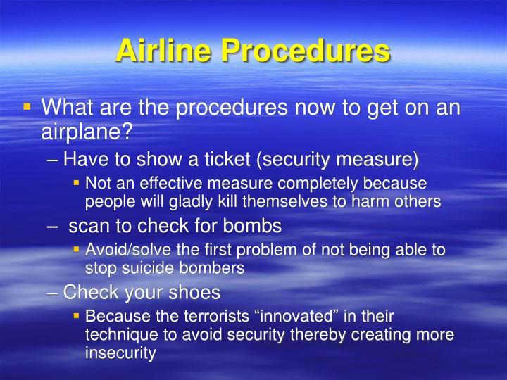 Airline Procedures