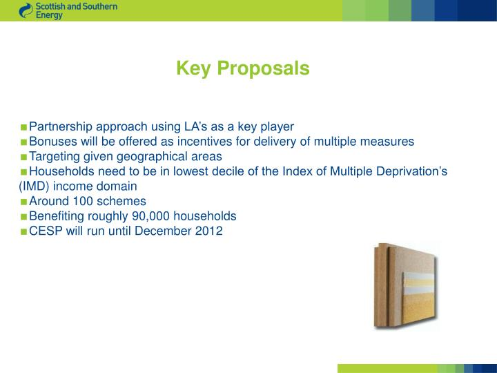 Key Proposals