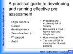 a practical guide to developing and running effective pre assessment