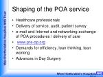 shaping of the poa service