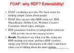 foaf why rdf extensibility