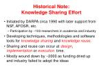 historical note knowledge sharing effort
